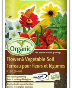 organic flower and vegetable soil 25 litres