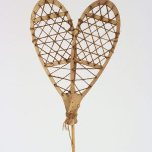Snowshoes on stake