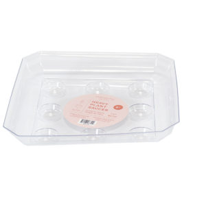 clear square saucer