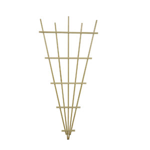 rectangle trellis natural pine