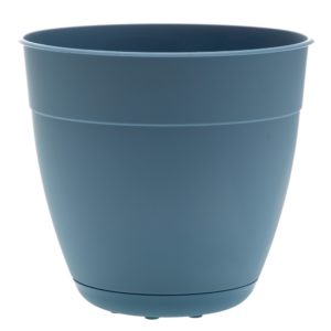 recycled ocean plastic outdoor pot blue