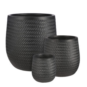 Corda Round outdoor pot black in 3 sizes