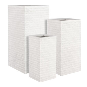 Corda Square outdoor pot white in 3 sizes