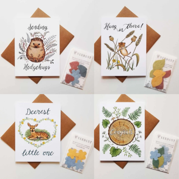 Verdant greeting cards with wildflower seeds included