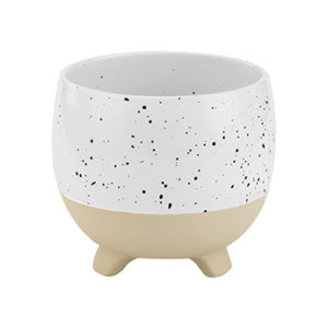 """Speckle Footed Ceramic Planter """