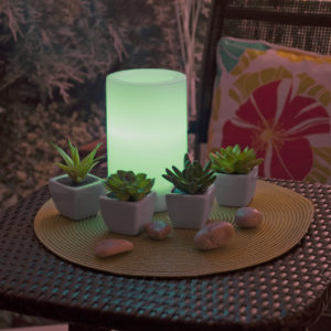 solar candle colour changing