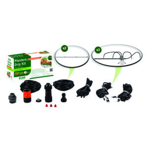 Elgo Spike Drip Irrigation Kit For 12 Pots or 3 Planters; 3 Arrays of 4 Spikes