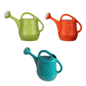 DCN Watering Can with Flower Design Asst Colours