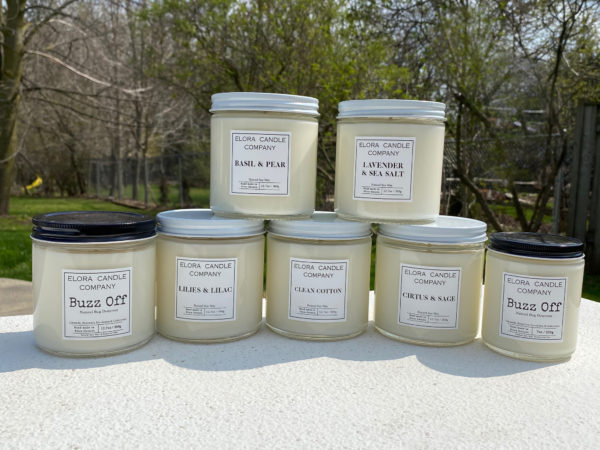 Elora Candle Company candle collection many scents to choose from